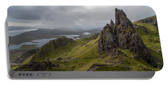 The Old Man Of Storr, Isle Of Skye, Uk Portable Battery Charger
