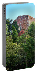 The Old Monastery Of Escornalbou Surrounded By Trees In Spain Portable Battery Charger