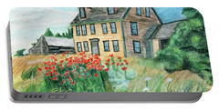 The Olson House With Poppies Portable Battery Charger