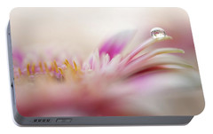 Portable Battery Charger featuring the photograph The One. Macro Gerbera by Jenny Rainbow