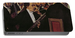 The Opera Orchestra Portable Battery Charger by Edgar Degas