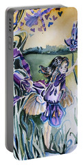 Portable Battery Charger featuring the painting The Orchid Fairy by Mindy Newman