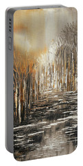 Portable Battery Charger featuring the painting The Owl's Voice by Tatiana Iliina