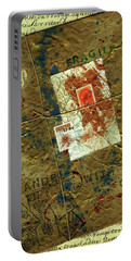 Portable Battery Charger featuring the mixed media The Package by P J Lewis
