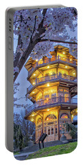 Portable Battery Charger featuring the photograph The Pagoda In Spring At Blue Hour by Mark Dodd