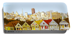 The Painted Ladies In San Francisco California Portable Battery Charger