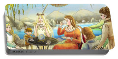 The Palace Garden Tea Party II Portable Battery Charger