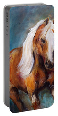 Portable Battery Charger featuring the painting The Palomino by Barbie Batson