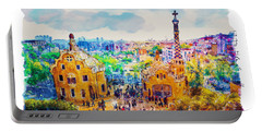 Park Guell Barcelona Portable Battery Charger by Marian Voicu