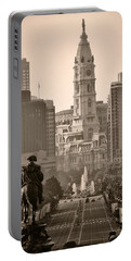 The Parkway In Sepia Portable Battery Charger by Bill Cannon