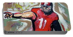 Portable Battery Charger featuring the painting The Pass by John Jr Gholson