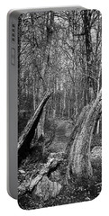 The Path Through The Woods Bandw Portable Battery Charger