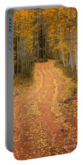The Pathway To Fall Portable Battery Charger by Ronda Kimbrow