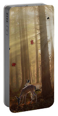 The Peace Of An Autumn Sunset Portable Battery Charger