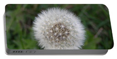 Portable Battery Charger featuring the photograph The Perfect Dandelion by DeeLon Merritt