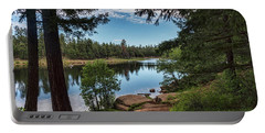 Portable Battery Charger featuring the photograph The Perfect Fishing Spot  by Saija Lehtonen