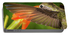 Portable Battery Charger featuring the photograph The Perfect Left Wing Of A Hummingbird by William Lee