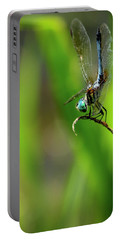 Portable Battery Charger featuring the photograph The Performer Dragonfly Art by Reid Callaway
