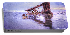 A Stormy Peter Iredale Portable Battery Charger