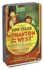 The Phantom Of The West 1931 Portable Battery Charger by Mountain Dreams