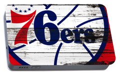 The Philadelphia 76ers 3e       Portable Battery Charger by Brian Reaves