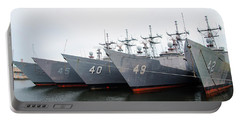 Portable Battery Charger featuring the photograph The Philadelphia Navy Yard by Bill Cannon