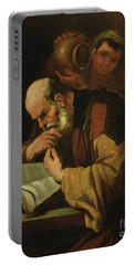 The Philosopher By Jusepe De Ribera Portable Battery Charger