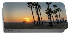 The Pier At Sunset Portable Battery Charger