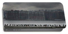 Portable Battery Charger featuring the photograph The Pigeon Gallery by Chris Lord