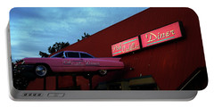 The Pink Cadillac Diner Portable Battery Charger