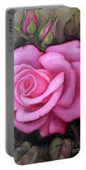 The Pink Dream Rose Portable Battery Charger