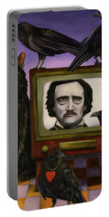 The Poe Show Portable Battery Charger by Leah Saulnier The Painting Maniac