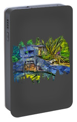 Portable Battery Charger featuring the photograph Blakes Pond House by Thom Zehrfeld