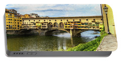 The Ponte Vecchio Photo Painting 7k_dsc2439_09152017 Portable Battery Charger