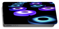 Portable Battery Charger featuring the photograph The Pool Circles by Mark Dodd