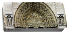 The Portal Of The Last Judgement Of Notre Dame De Paris Portable Battery Charger