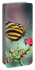 Portable Battery Charger featuring the photograph The Postman Longwing  by Saija Lehtonen