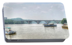 Portable Battery Charger featuring the photograph The Potomac by Adrian LaRoque