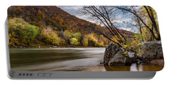 The Potomac In Autumn Portable Battery Charger by Ed Clark