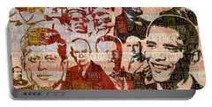 The Presidents Past Recycled Vintage License Plate Art Collage Portable Battery Charger