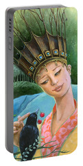 The Princess And The Crow Portable Battery Charger