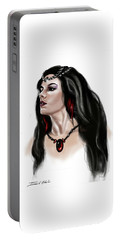 Portable Battery Charger featuring the painting The Princess Morgana by James Christopher Hill