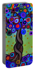 Portable Battery Charger featuring the painting The Prolific Tree by Pristine Cartera Turkus