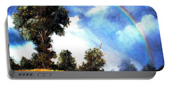 Portable Battery Charger featuring the painting The Promise  by Hazel Holland