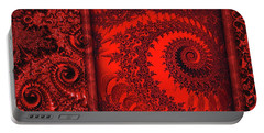 Portable Battery Charger featuring the digital art The Proper Victorian In Red  by Wendy J St Christopher