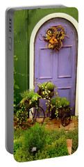 The Purple Door Portable Battery Charger by Michiale Schneider