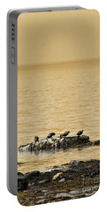 Portable Battery Charger featuring the photograph The Quatuor - Gold by Aimelle