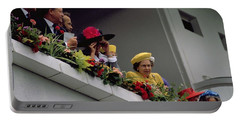 The Queen At Derby Day 1988 Portable Battery Charger