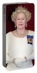 Portable Battery Charger featuring the photograph The Queen Elizabeth II  by Miroslava Jurcik
