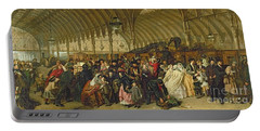 The Railway Station Portable Battery Charger by William Powell Frith